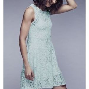 Free People Miles of Lace Dress- Color Sky